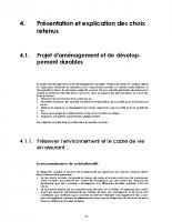 Rapport de présentation – Tome 3