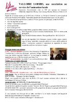 Valloire Loisirs – Infos été 2021
