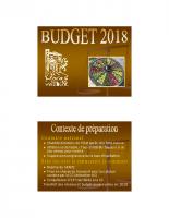 Diaporama Budget 2018 Moras