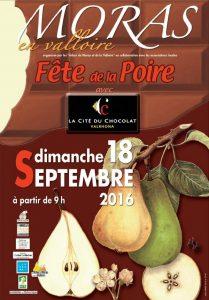 Fête de la poire Moras-en-Valloire 18 septembre 2016