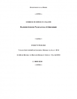 RAPPORT et CONCLUSIONS Enquête Publique PLU Moras-en-Valloire 11 novembre 2018