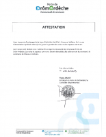 Attestation absence ASL